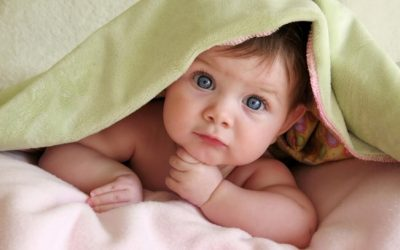 baby and blanket